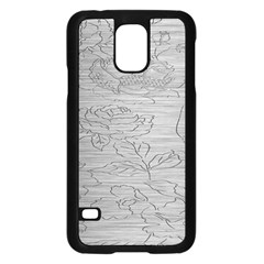 Embossed Rose Pattern Samsung Galaxy S5 Case (black)