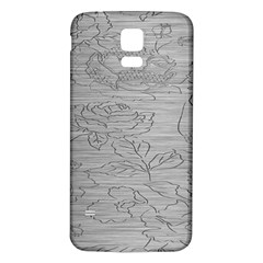 Embossed Rose Pattern Samsung Galaxy S5 Back Case (white)