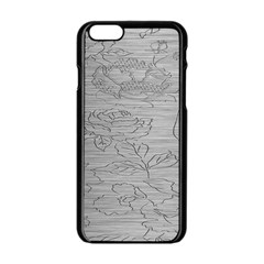 Embossed Rose Pattern Apple Iphone 6/6s Black Enamel Case
