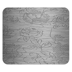 Embossed Rose Pattern Double Sided Flano Blanket (small)