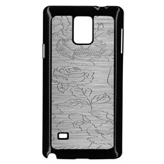 Embossed Rose Pattern Samsung Galaxy Note 4 Case (black)