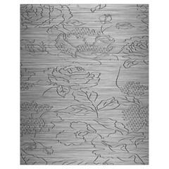 Embossed Rose Pattern Drawstring Bag (small)