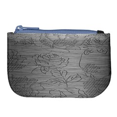 Embossed Rose Pattern Large Coin Purse