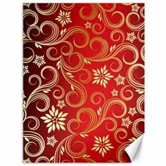 Golden Swirls Floral Pattern Canvas 36  X 48