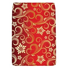 Golden Swirls Floral Pattern Flap Covers (s)