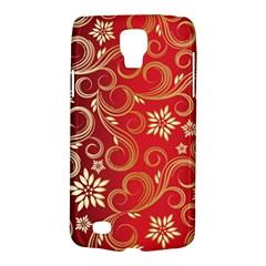 Golden Swirls Floral Pattern Galaxy S4 Active