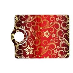 Golden Swirls Floral Pattern Kindle Fire Hd (2013) Flip 360 Case