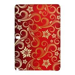 Golden Swirls Floral Pattern Samsung Galaxy Tab Pro 10 1 Hardshell Case