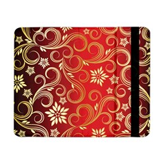 Golden Swirls Floral Pattern Samsung Galaxy Tab Pro 8 4  Flip Case