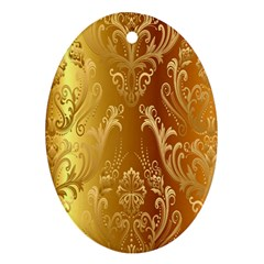 Golden Pattern Vintage Gradient Vector Ornament (oval)