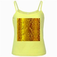 Golden Pattern Vintage Gradient Vector Yellow Spaghetti Tank