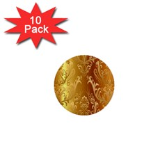 Golden Pattern Vintage Gradient Vector 1  Mini Buttons (10 Pack)