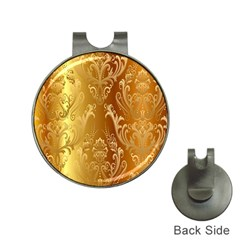 Golden Pattern Vintage Gradient Vector Hat Clips With Golf Markers