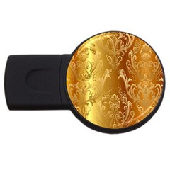 Golden Pattern Vintage Gradient Vector Usb Flash Drive Round (4 Gb)