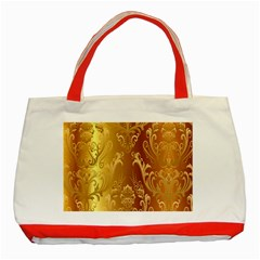 Golden Pattern Vintage Gradient Vector Classic Tote Bag (red)