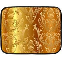 Golden Pattern Vintage Gradient Vector Fleece Blanket (mini)