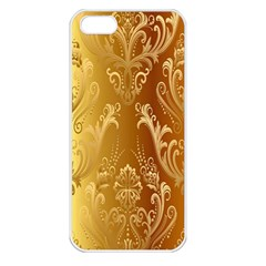 Golden Pattern Vintage Gradient Vector Apple Iphone 5 Seamless Case (white)
