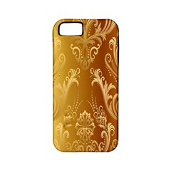 Golden Pattern Vintage Gradient Vector Apple Iphone 5 Classic Hardshell Case (pc+silicone)