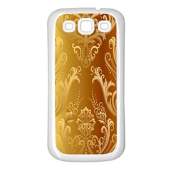 Golden Pattern Vintage Gradient Vector Samsung Galaxy S3 Back Case (white)