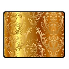 Golden Pattern Vintage Gradient Vector Double Sided Fleece Blanket (small)