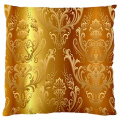 Golden Pattern Vintage Gradient Vector Large Flano Cushion Case (two Sides)
