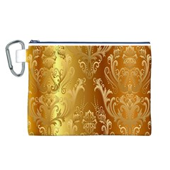 Golden Pattern Vintage Gradient Vector Canvas Cosmetic Bag (l)