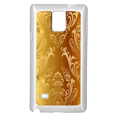 Golden Pattern Vintage Gradient Vector Samsung Galaxy Note 4 Case (white)