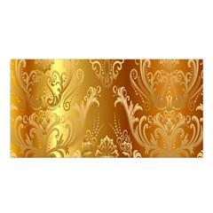 Golden Pattern Vintage Gradient Vector Satin Shawl