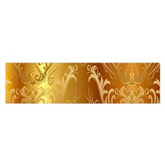 Golden Pattern Vintage Gradient Vector Satin Scarf (oblong)