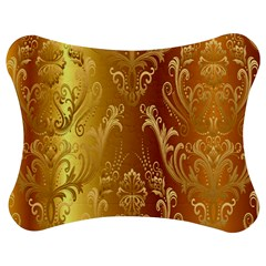 Golden Pattern Vintage Gradient Vector Jigsaw Puzzle Photo Stand (bow)