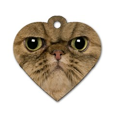 Cute Persian Catface In Closeup Dog Tag Heart (one Side)