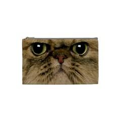 Cute Persian Catface In Closeup Cosmetic Bag (small)