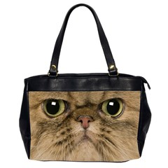 Cute Persian Catface In Closeup Office Handbags (2 Sides)
