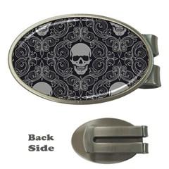 Dark Horror Skulls Pattern Money Clips (oval)