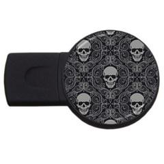 Dark Horror Skulls Pattern Usb Flash Drive Round (2 Gb)