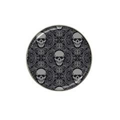 Dark Horror Skulls Pattern Hat Clip Ball Marker