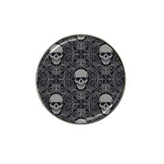 Dark Horror Skulls Pattern Hat Clip Ball Marker (10 Pack)