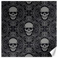 Dark Horror Skulls Pattern Canvas 12  X 12
