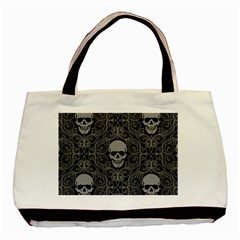 Dark Horror Skulls Pattern Basic Tote Bag (two Sides)