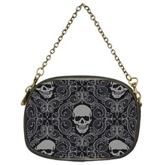 Dark Horror Skulls Pattern Chain Purses (two Sides)