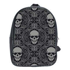 Dark Horror Skulls Pattern School Bags(large)