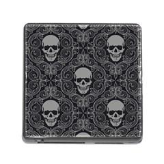 Dark Horror Skulls Pattern Memory Card Reader (square)