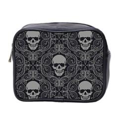 Dark Horror Skulls Pattern Mini Toiletries Bag 2 Side