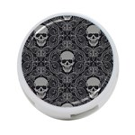 Dark Horror Skulls Pattern 4-Port USB Hub (One Side) Front