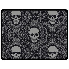 Dark Horror Skulls Pattern Fleece Blanket (large)