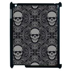 Dark Horror Skulls Pattern Apple Ipad 2 Case (black)