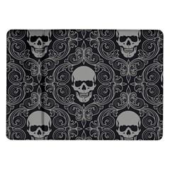 Dark Horror Skulls Pattern Samsung Galaxy Tab 10 1  P7500 Flip Case