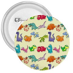 Group Of Funny Dinosaurs Graphic 3  Buttons