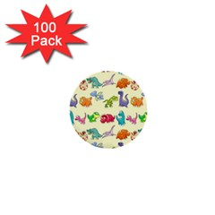 Group Of Funny Dinosaurs Graphic 1  Mini Buttons (100 Pack)