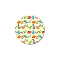Group Of Funny Dinosaurs Graphic Golf Ball Marker